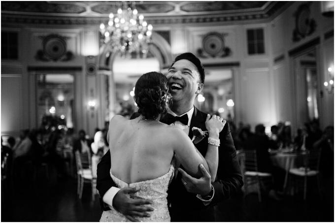 melissa + ken // a warm + elegant wedding at detroit's colonyclub